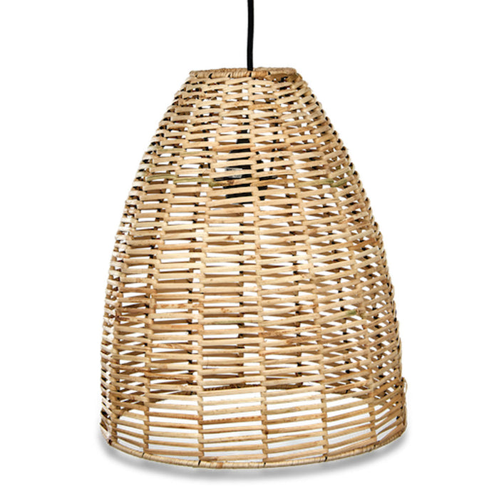Noko Wicker Conical Pendant, Natural, Small