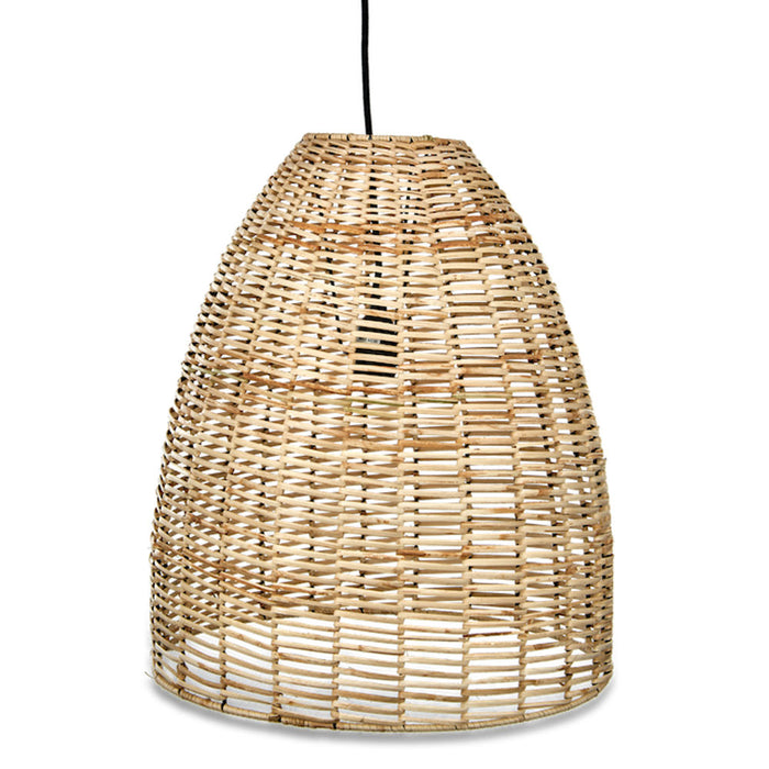 Noko Wicker Conical Pendant, Natural, Medium
