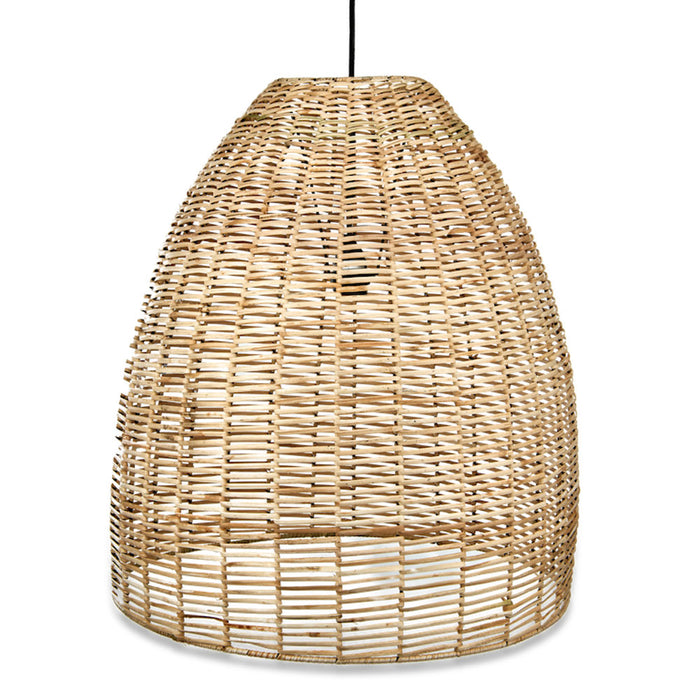 Noko Wicker Conical Pendant, Natural, Large