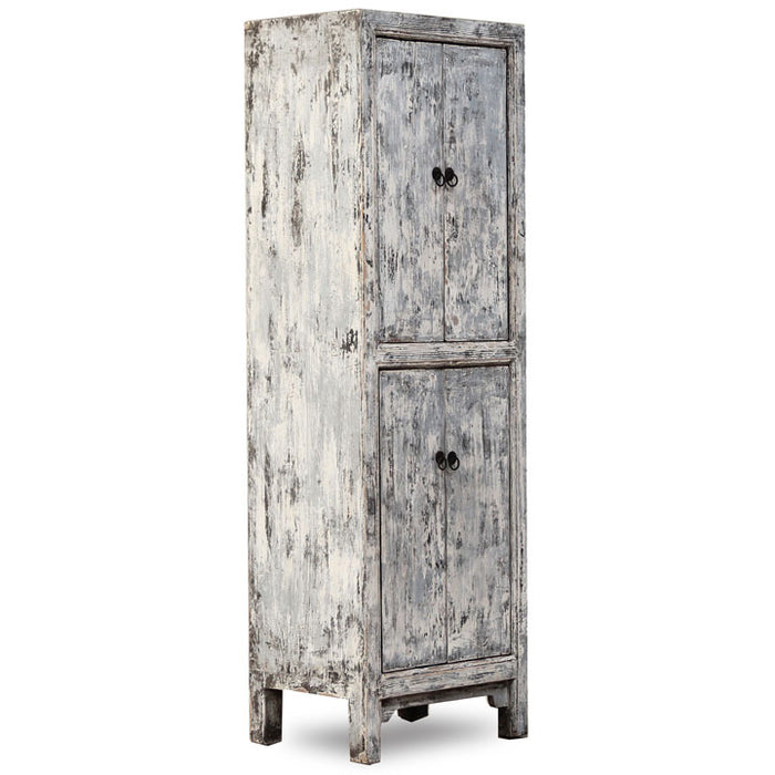 Narrow Armoire in Distressed Finish