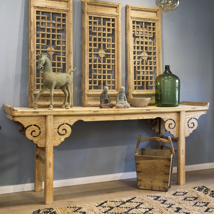 Carved Antique Chinese Altar Table