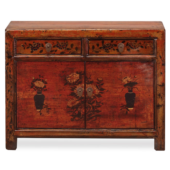 Orange Lacquer Painted Sideboard