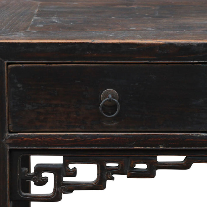 Three Drawer Console with Dragon Carvings