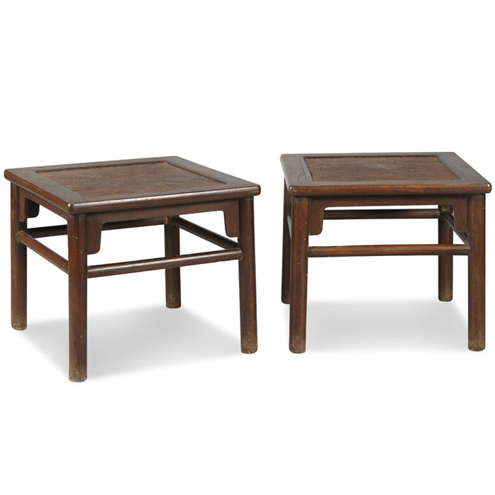 Pair of Oriental Meditation Stools