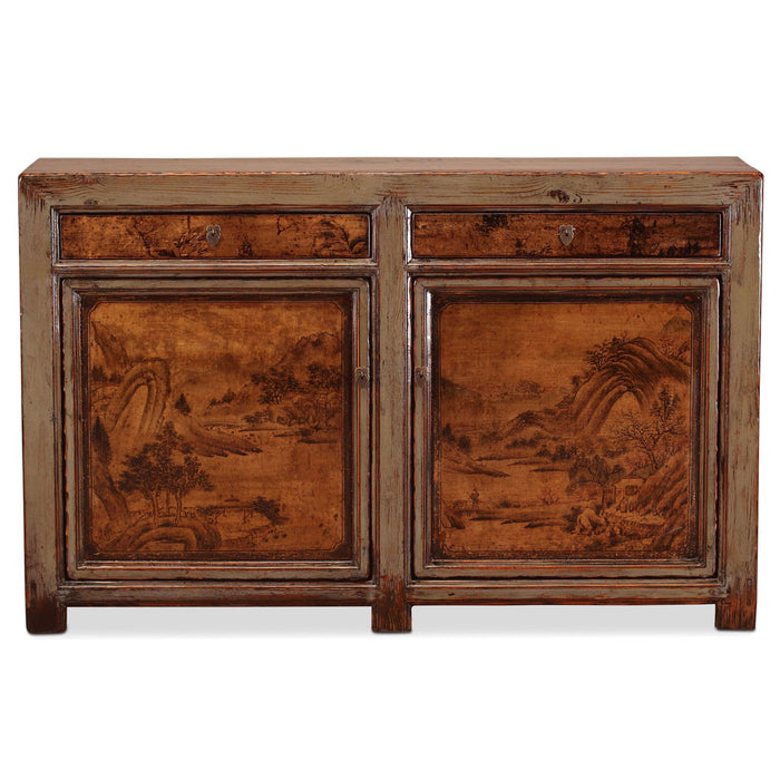 Oriental Painted Cabinet