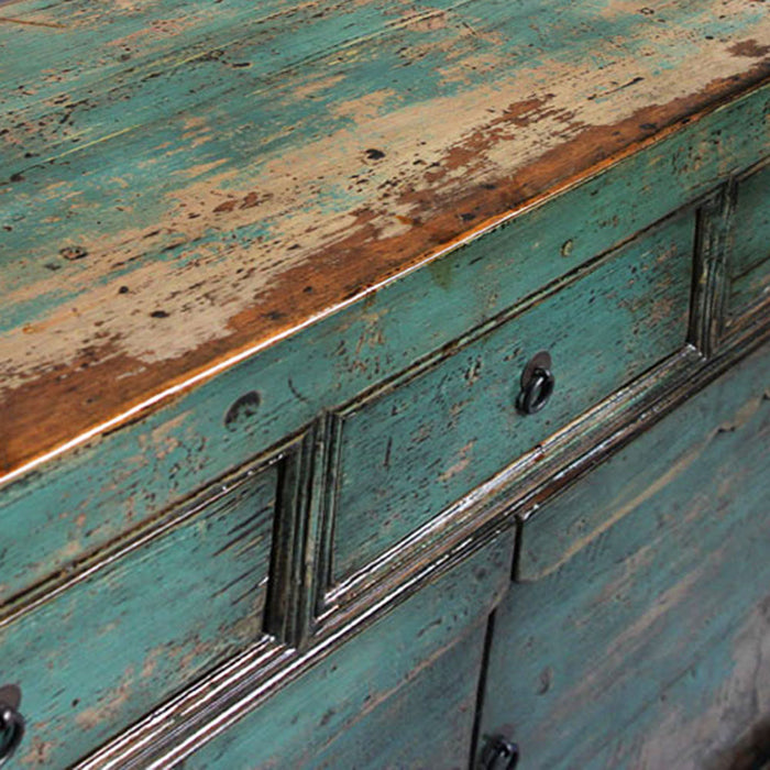 Teal Lacquer Sideboard