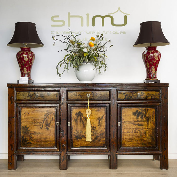 Jasmine Lamps on Chinese Sideboard