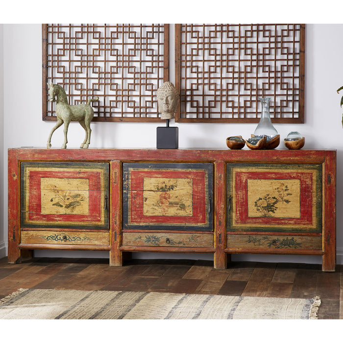 Antique Chinese Painted Sideboard
