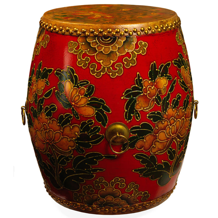 Painted Chinese Temple Drum