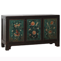 Painted Sideboard with Birds and Flowers