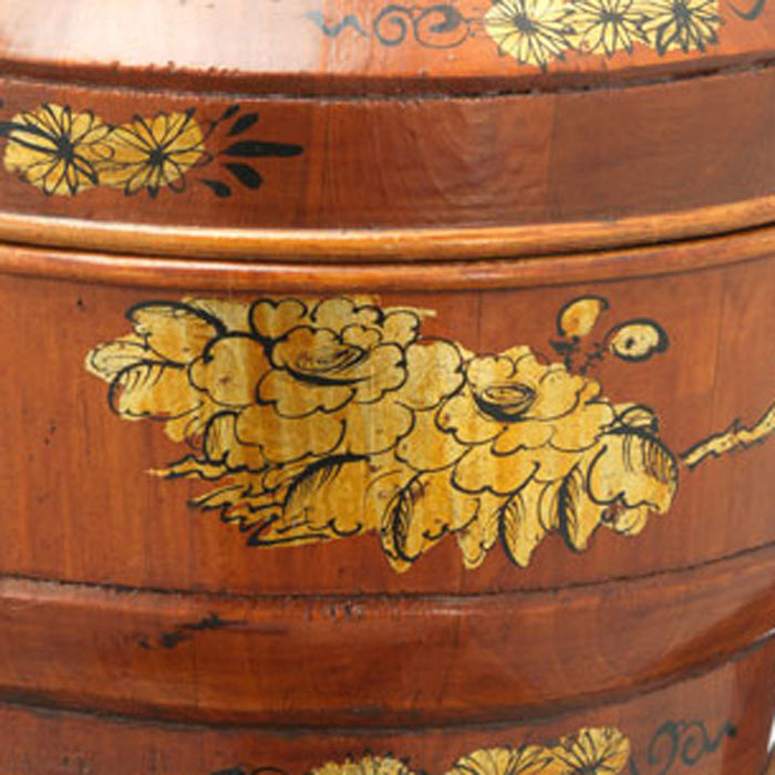 Painted Bamboo Basket