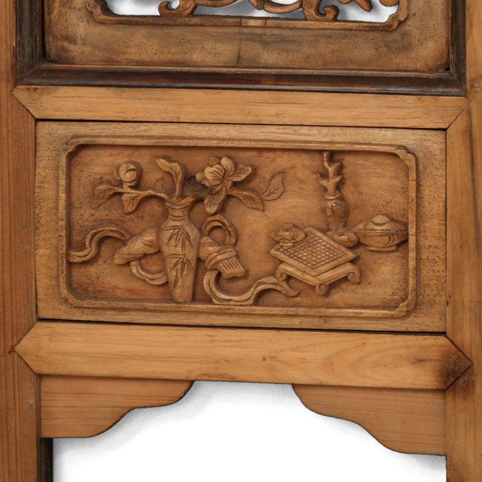Pair of Carved Wooden Panels