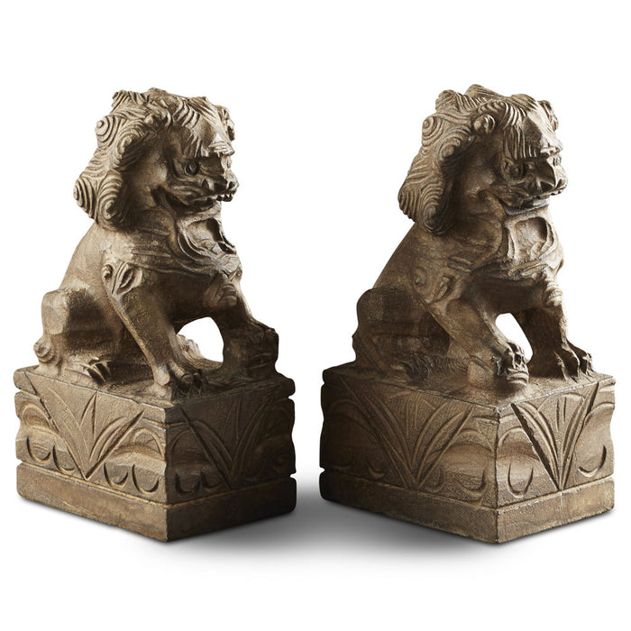 Pair of Stone Temple Lions