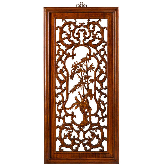 Carved Panel - 'Uprightness', Warm Elm