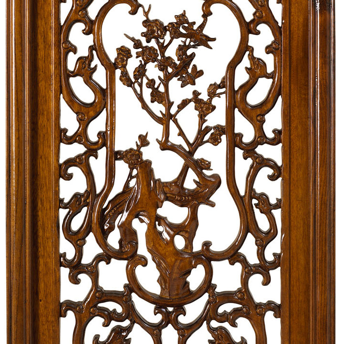 Carved Panel - 'Courage', Warm Elm