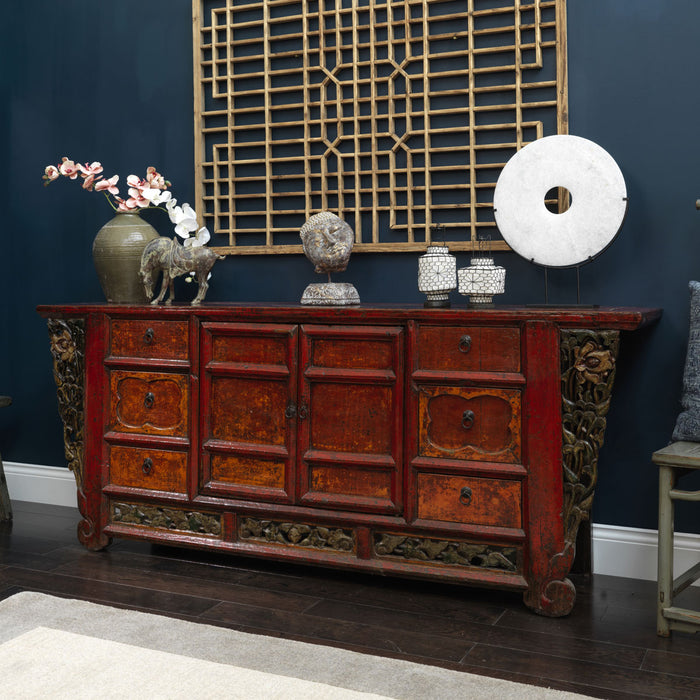 Shanxi Antique Chinese Sideboard with Carved Detail