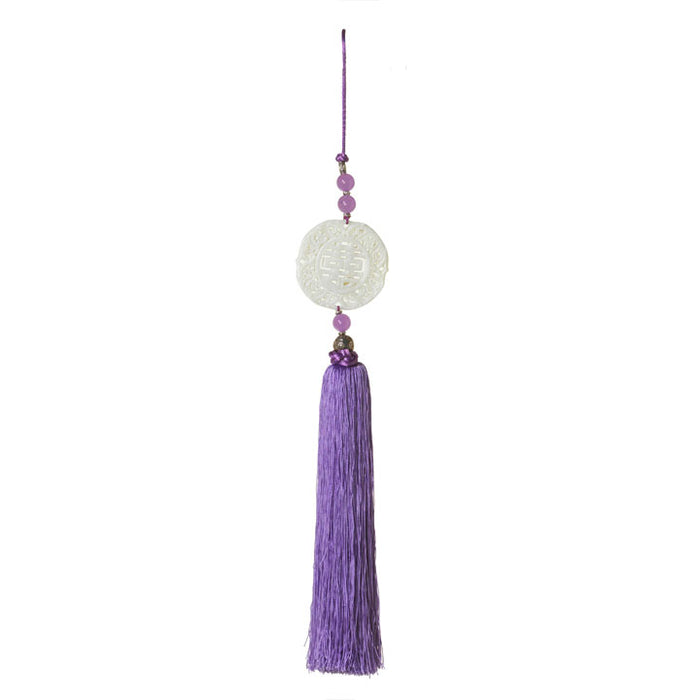 Silk and Stone Tassel, Purple