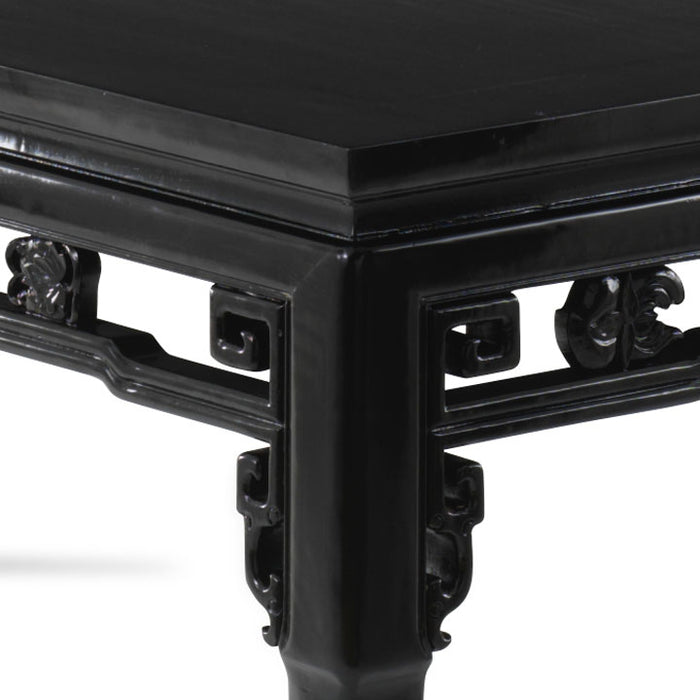 Qing Dining Table, Black Lacquer