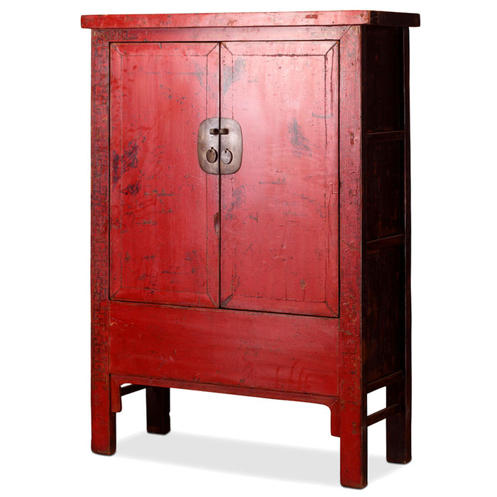 Antique Chinese Red Armoire
