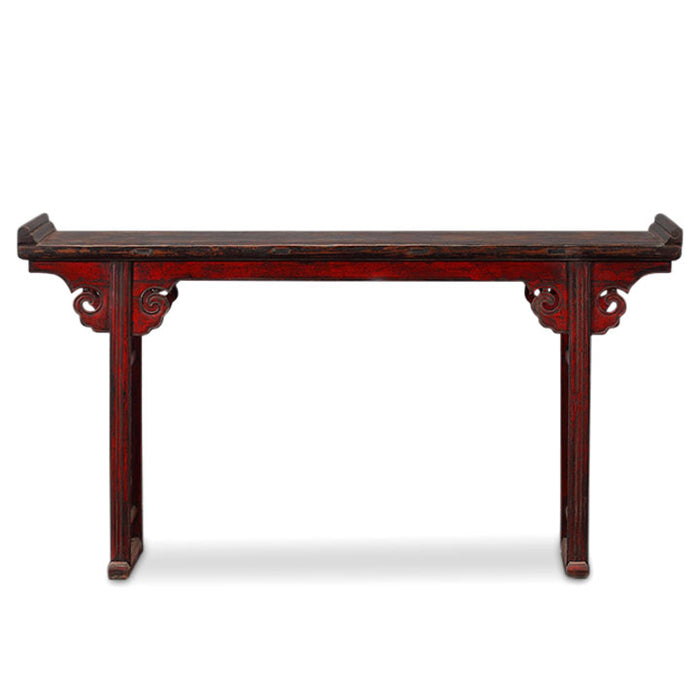 Red Lacquer Oriental Altar Table