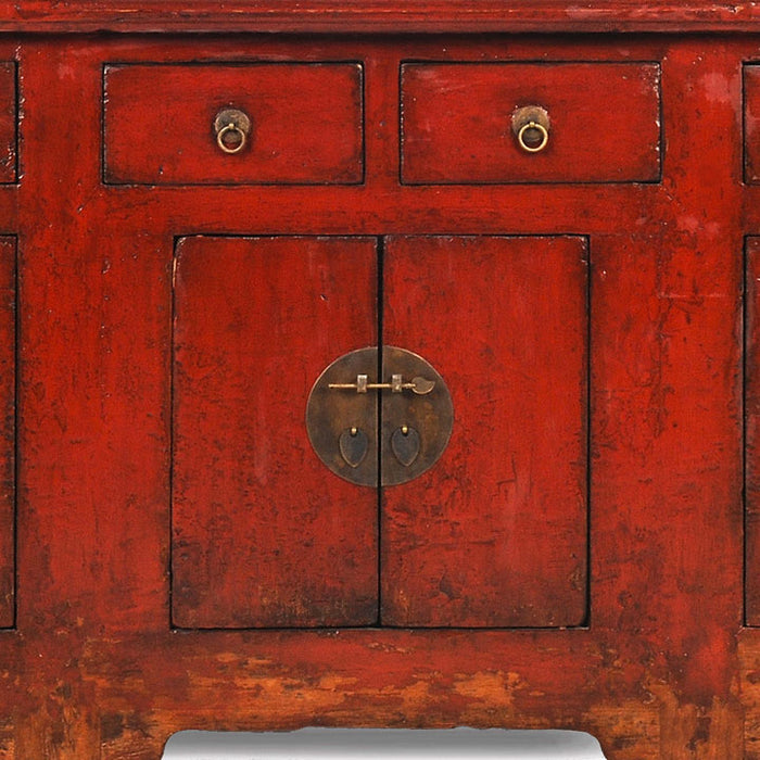 Large Red Lacquer Altar Cabinet