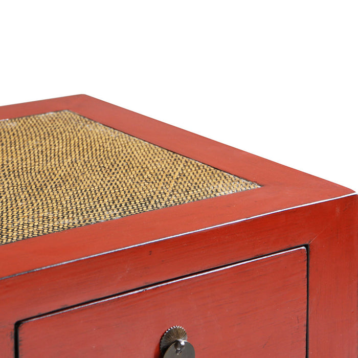 Jiang Red Lacquer Double Sideboard