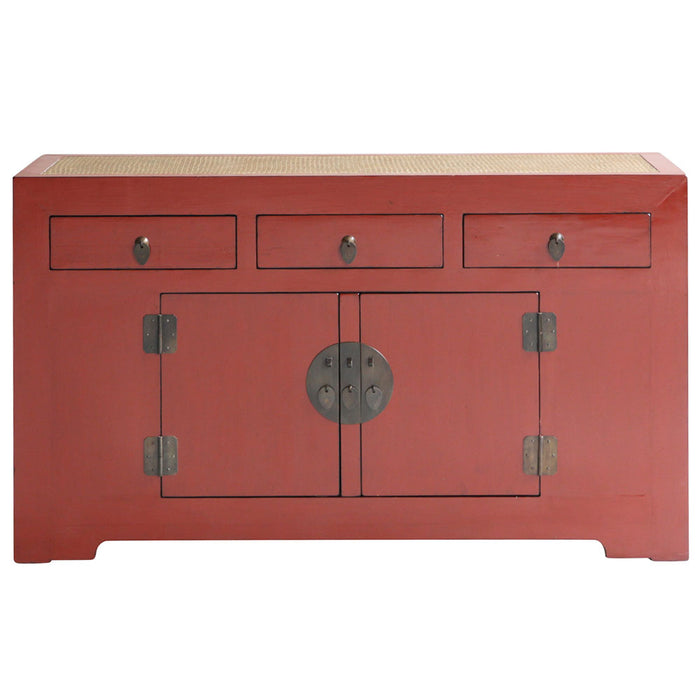 Jiang Red Lacquer Sideboard