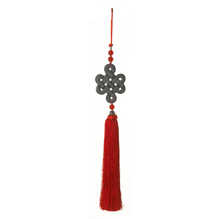 Silk and Stone Tassel, Eternal Knot