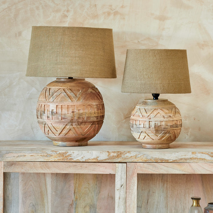 Ruanda Mango Wood Lamp