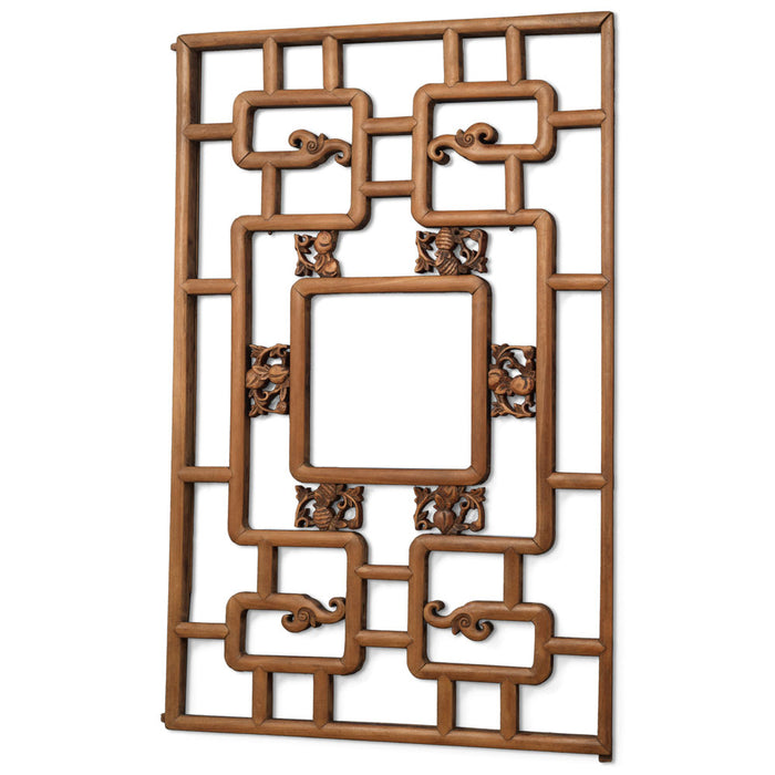 Set of Four Carved Lattice Wall Panels