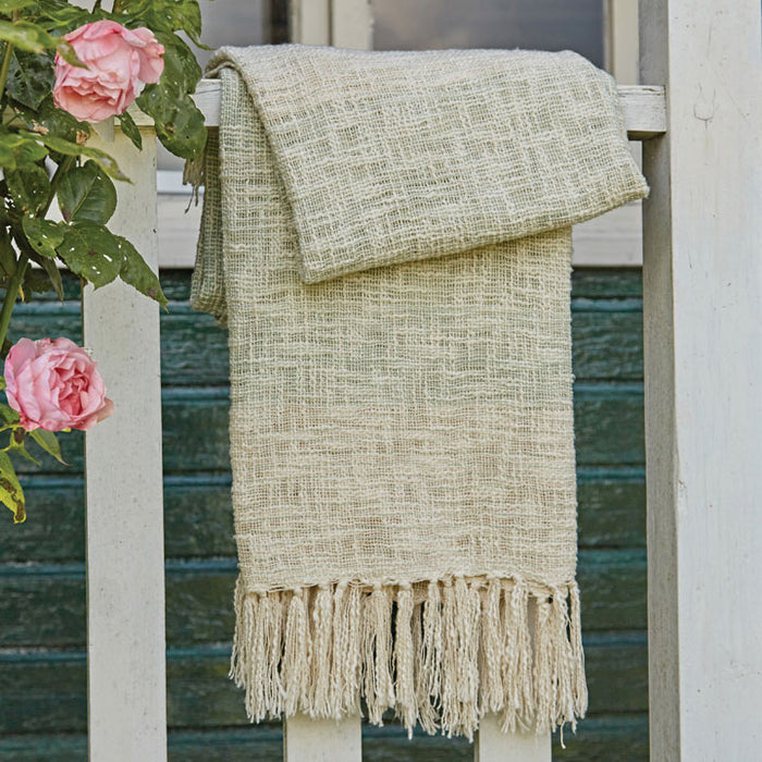 Shaded Handloom Throw, Mint