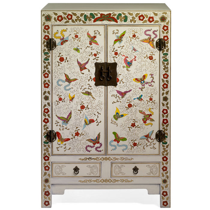 Shanxi Butterfly Cabinet, Cream Lacquer