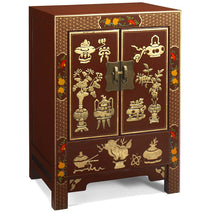 Shanxi Curio Cabinet, Red Lacquer
