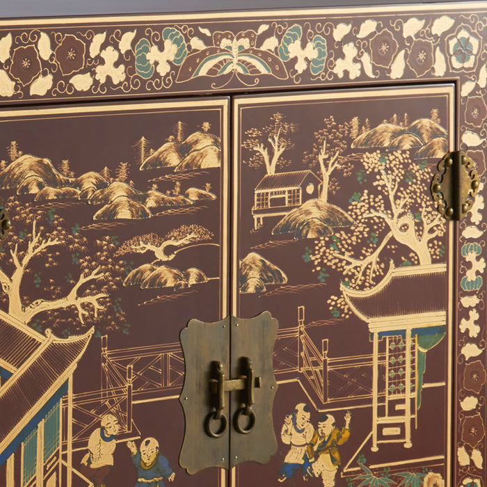 Shanxi Painted Cabinet, Red Lacquer