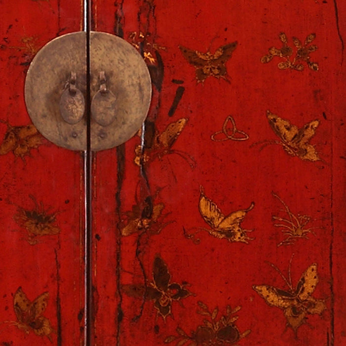 Shanxi Red and Gold Antique Cabinet