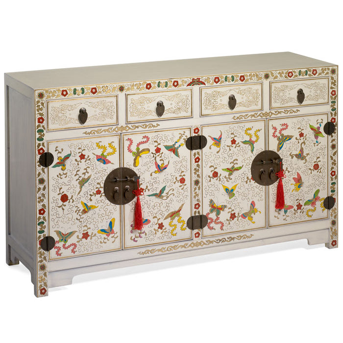 Shanxi Butterfly Sideboard, Cream Lacquer