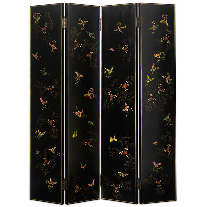 Shanxi Butterfly Screen, Black Lacquer