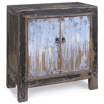 Side Cabinet, Blue and Black