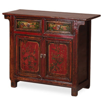 Side Cabinet in Red Lacquer