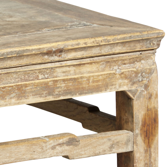 Antique Side Table in Natural Finish