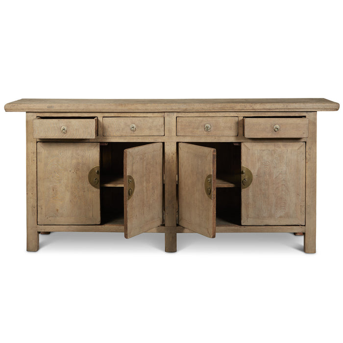 Double Sided Chinese Antique Elm Sideboard