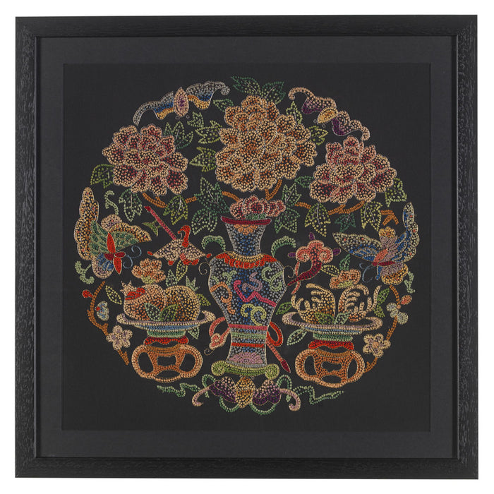 Chinese Silk Embroidery - 'Vase'