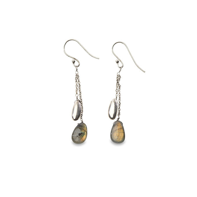 Keebu Silver Labradorite Earrings