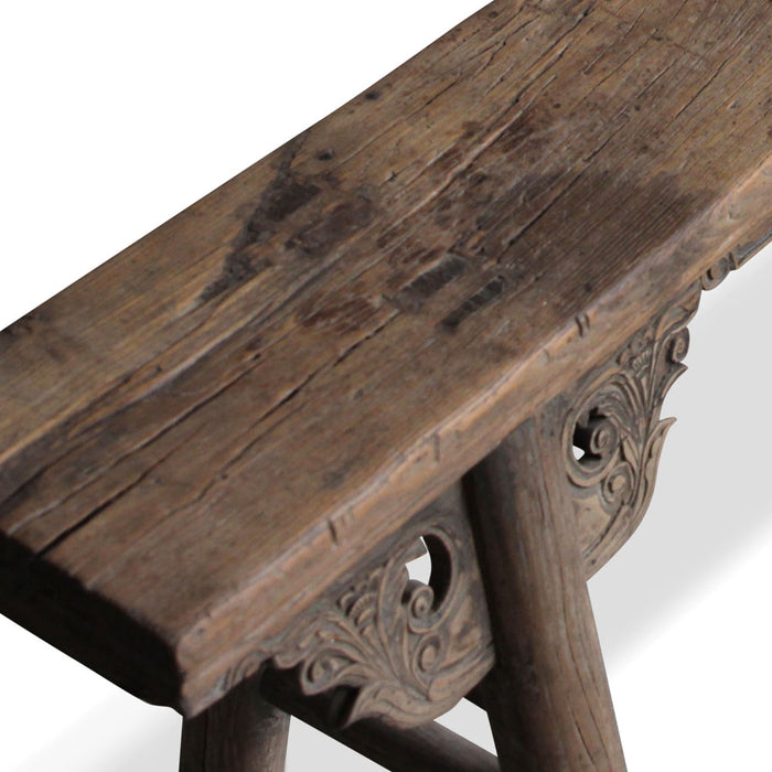 Natural Elm Shanxi Chinese Bench