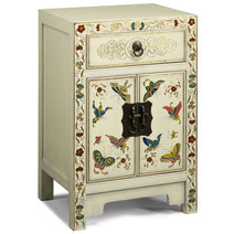 Small Butterfly Cabinet, Cream Lacquer