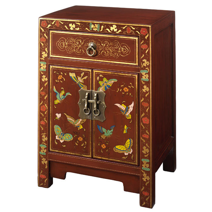 Small Butterfly Cabinet, Red Lacquer