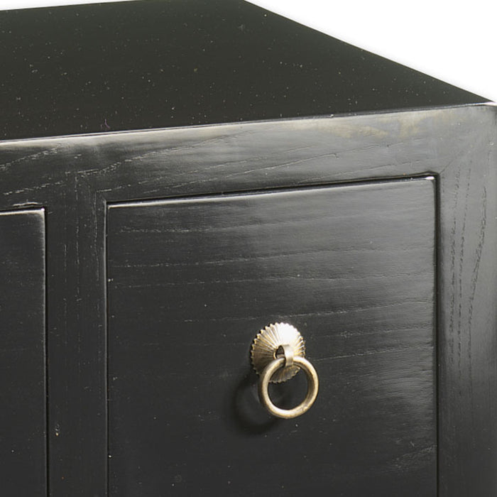 Small Herbalist Chest, Black Lacquer