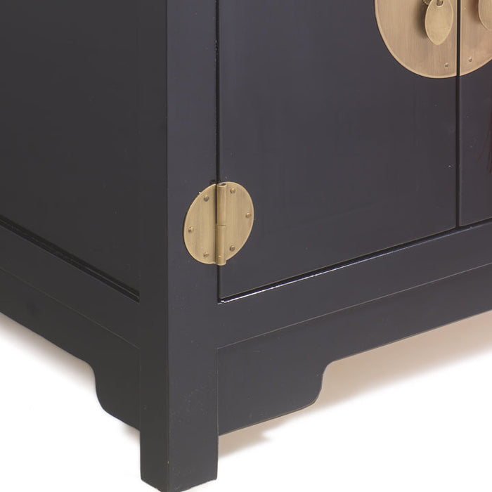 Small Kang Cabinet, Black Lacquer