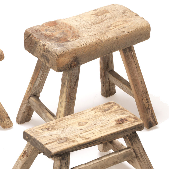 Small Wooden Chinese Workers Stool
