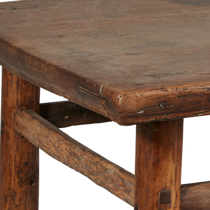 Low Square Table with Rounded Legs